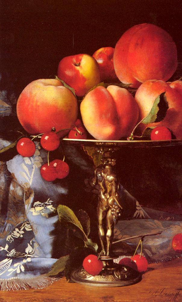 A Still Life with Peaches, Plums and Cherries :: Blaise Alexandre Desgoffe - Still-lives with fruit ôîòî