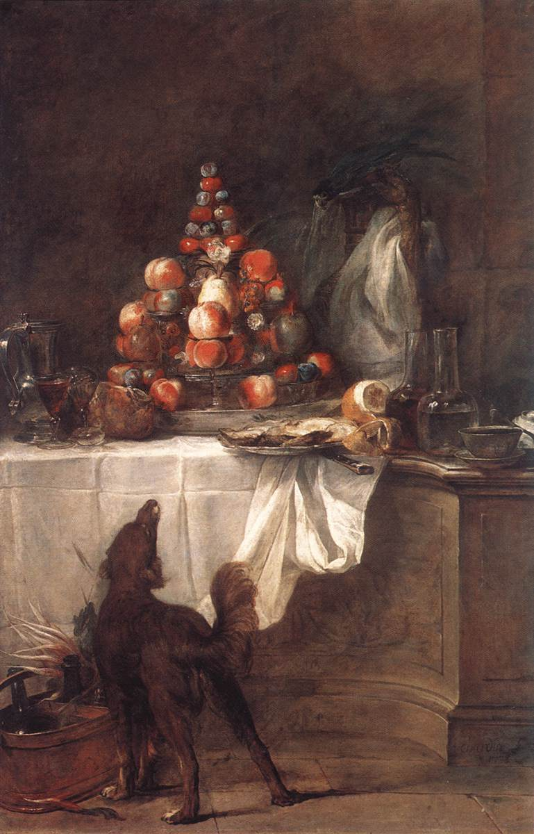 The Buffet :: Jean-Baptiste-Simeon Chardin - Still-lives with fruit ôîòî