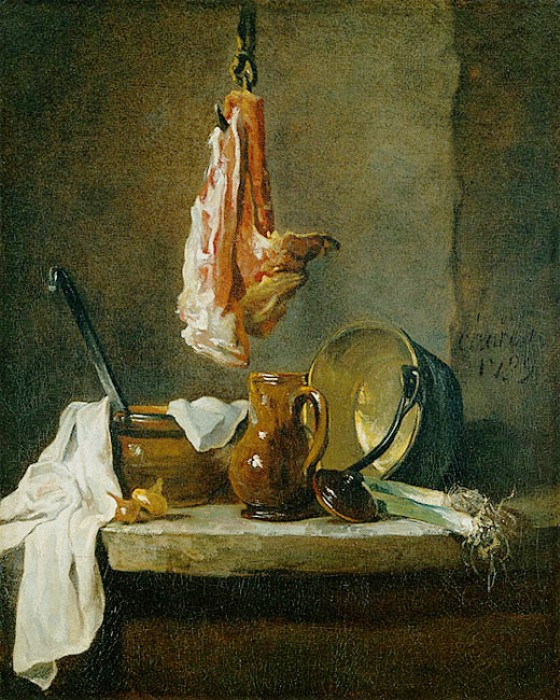 Still Life with a Rib of Beef :: Jean-Baptiste-Simeon Chardin - Still Lifes ôîòî