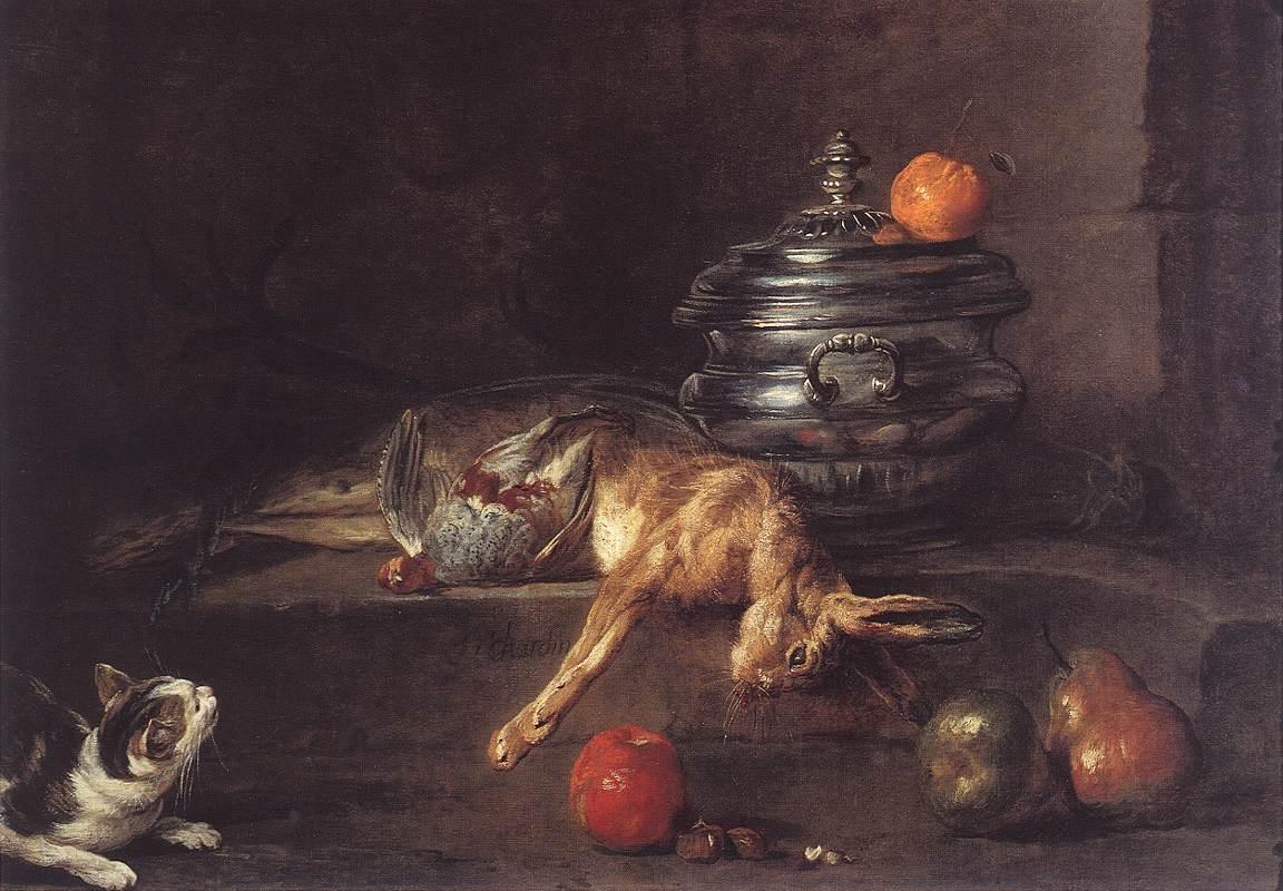 The Silver Tureen :: Jean-Baptiste-Simeon Chardin - Still Lifes ôîòî