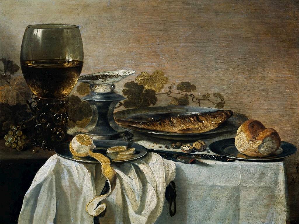 Still Life with Fish :: Pieter Claesz - Still Lifes ôîòî