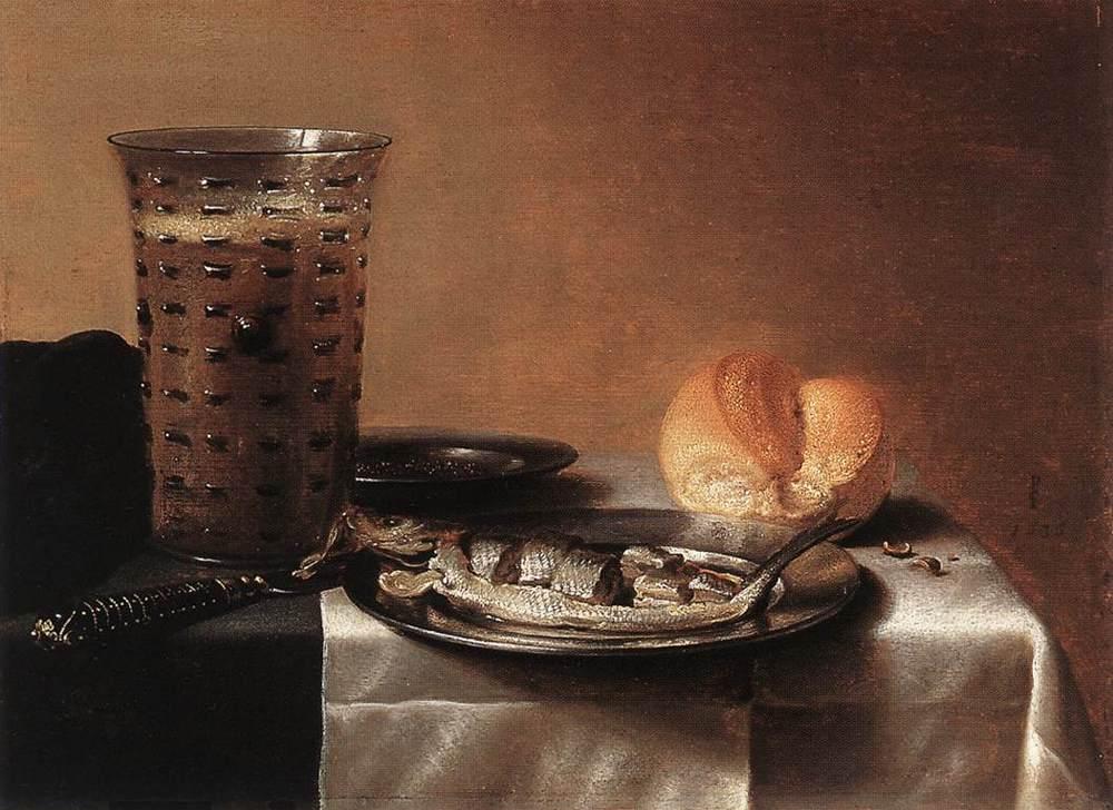 Still Life with Herring :: Pieter Claesz - Still Lifes ôîòî