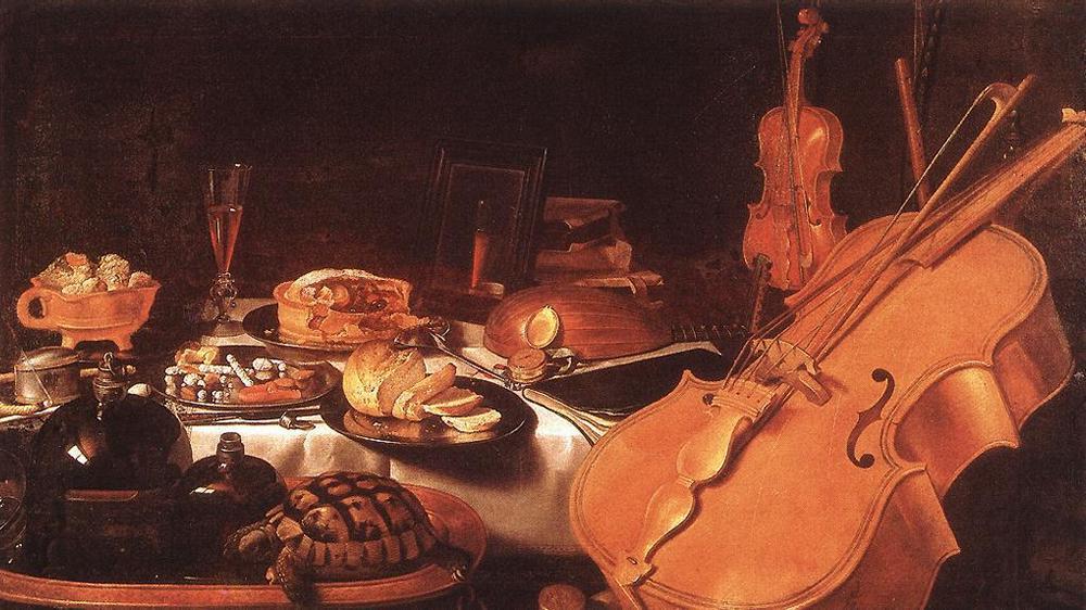 Still Life with Musical Instruments :: Pieter Claesz - Still Lifes ôîòî