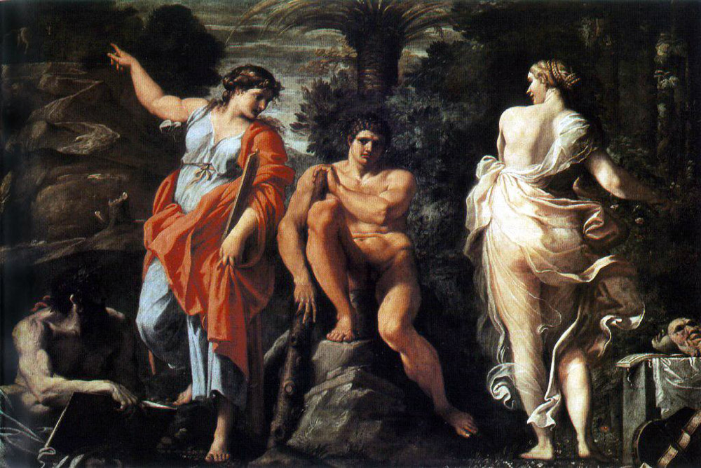 The Choice of Heracles :: Annibale Carracci - mythology and poetry ôîòî