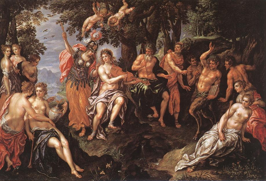 The Punishment of Midas :: Hendrick De Clerck - nu art in mythology painting ôîòî