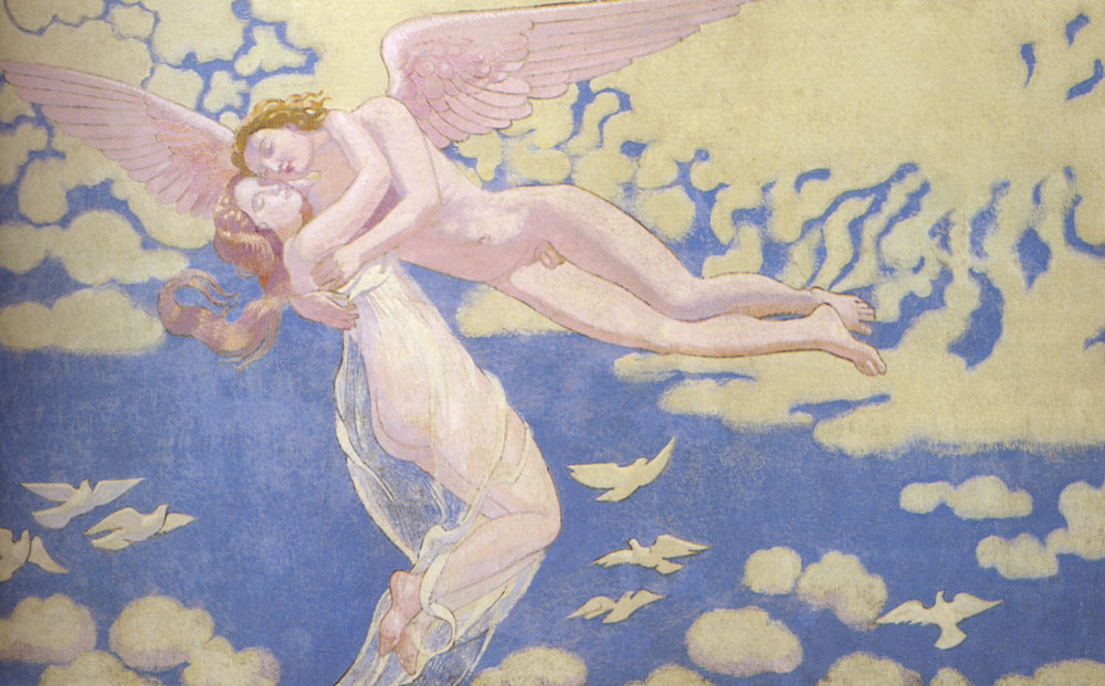 Cupid Carries Psyche To The Heaven :: Maurice Denis - nu art in mythology painting ôîòî