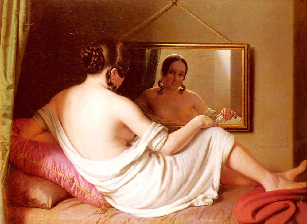 A Woman Before A Mirror :: Anton Einsle - Nu in art and painting ôîòî