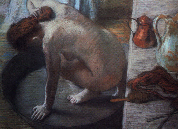 The Tub Pastel on cardboard :: Edgar Degas - Nu in art and painting ôîòî