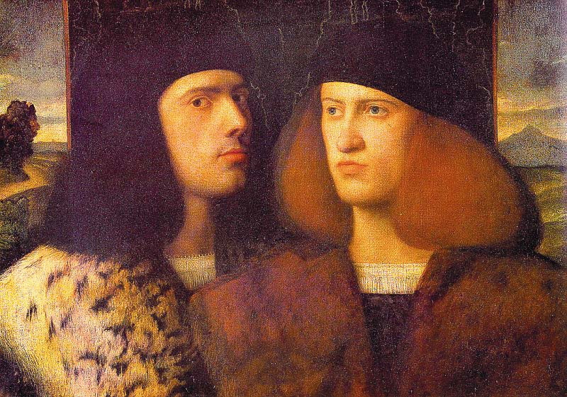 Portrait of two young men giovanni cariani men s portraits 16th