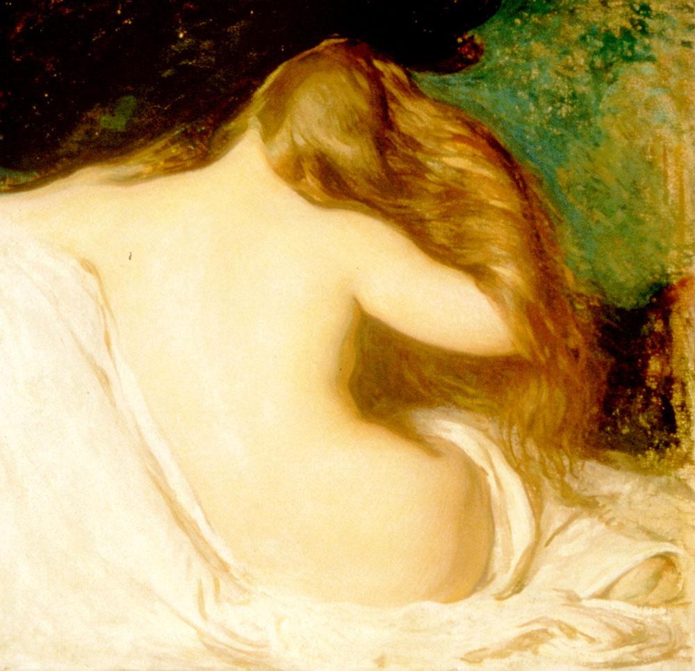 Woman Drying her Hair [ Female back ] :: Joseph Rodefer de Camp - Nu in art and painting ôîòî