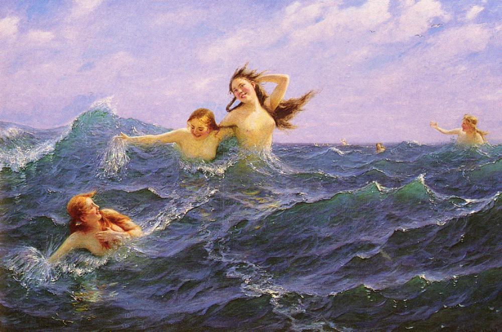 The Daughters Of Ran :: Hans Dahl - Nu in art and painting ôîòî