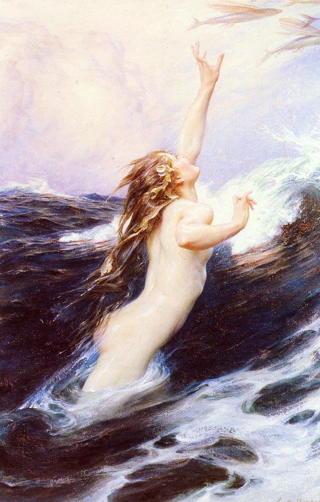 Flying Fish :: Herbert James Draper - Nu in art and painting ôîòî