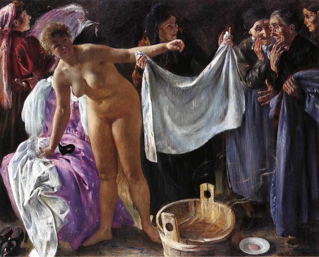 Witches :: Lovis Corinth  - Nu in art and painting ôîòî