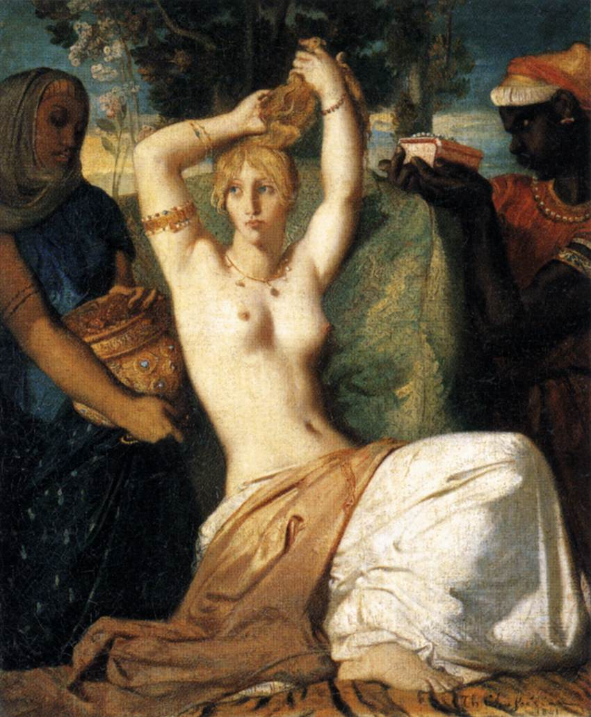The Toilet of Esther :: Thiodore Chassiriau - Nu in art and painting ôîòî