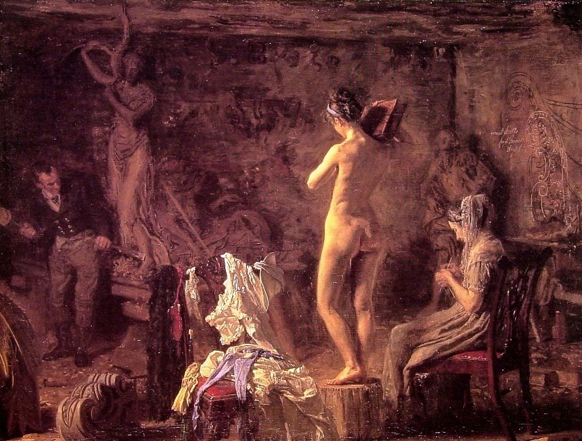 William Rush Carving his Allegorical Figure of the Schuylkill River :: Thomas Eakins - Nu in art and painting ôîòî