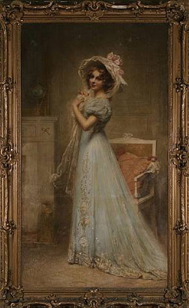 Lady in Blue :: Edouard Cabane - 6 woman's portraits hall ( The middle of 19 centuries ) in art and painting ôîòî