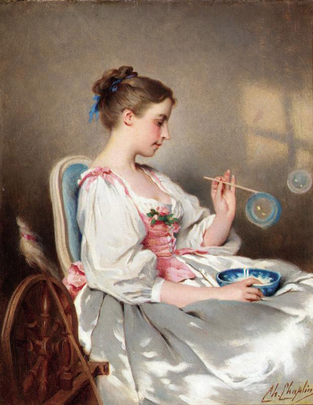 Blowing Bubbles :: Charles Chaplin - 6 woman's portraits hall ( The middle of 19 centuries ) in art and painting ôîòî