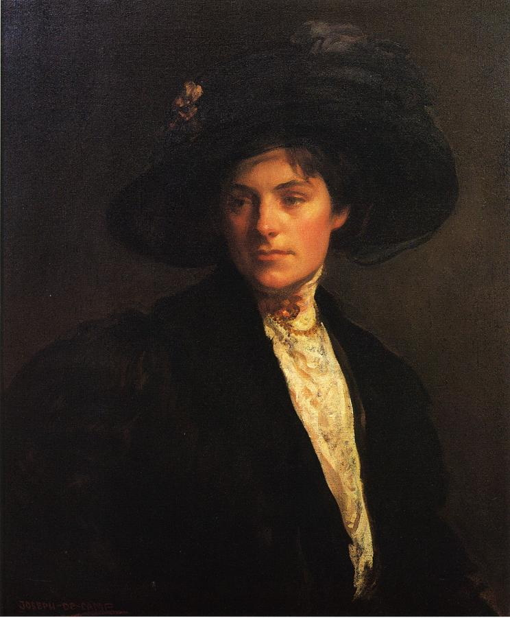 The Fur Jacket :: Joseph Rodefer de Camp - 7 female portraits ( the end of 19 centuries ) in art and painting ôîòî