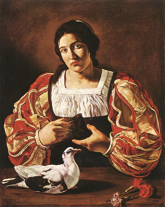 Woman with a Dove - 3 women portraits 17th century hall ôîòî
