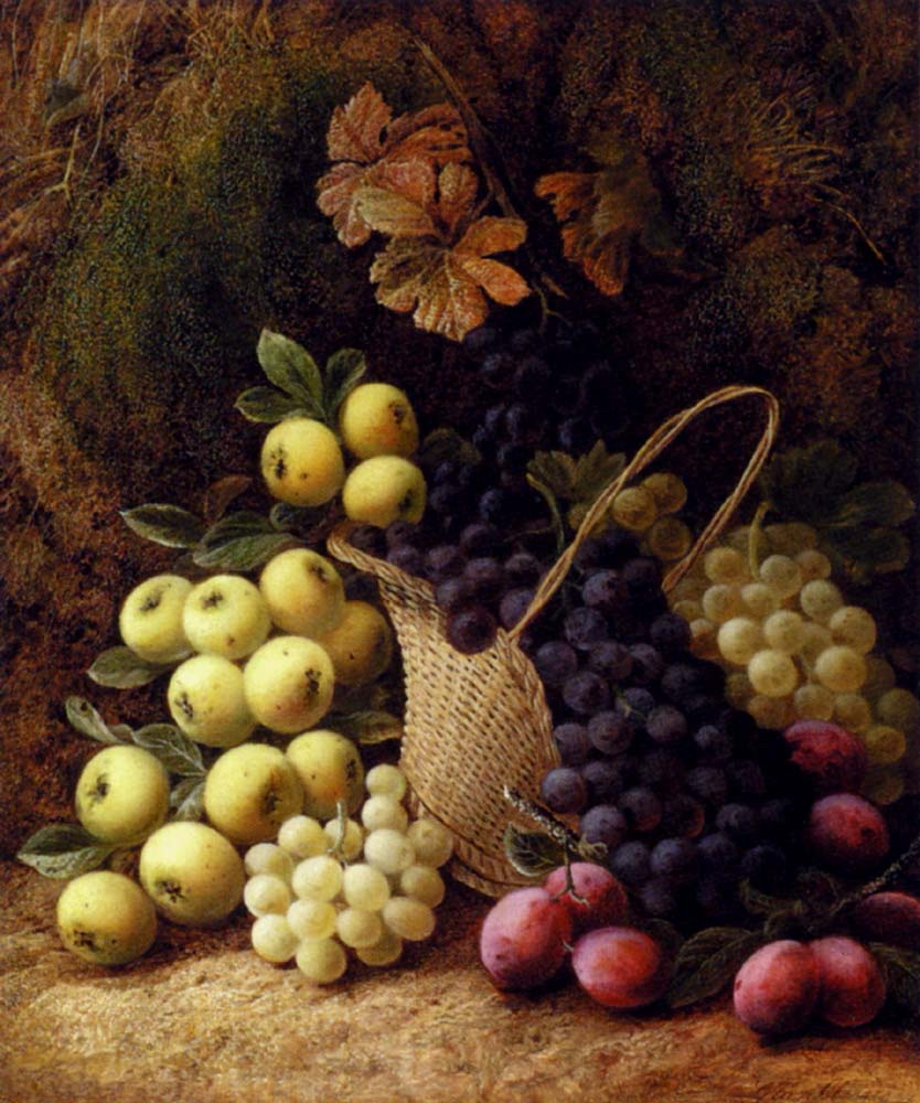 Still Life with Apples, Grapes and Plums :: George Clare  - Still-lives with fruit ôîòî
