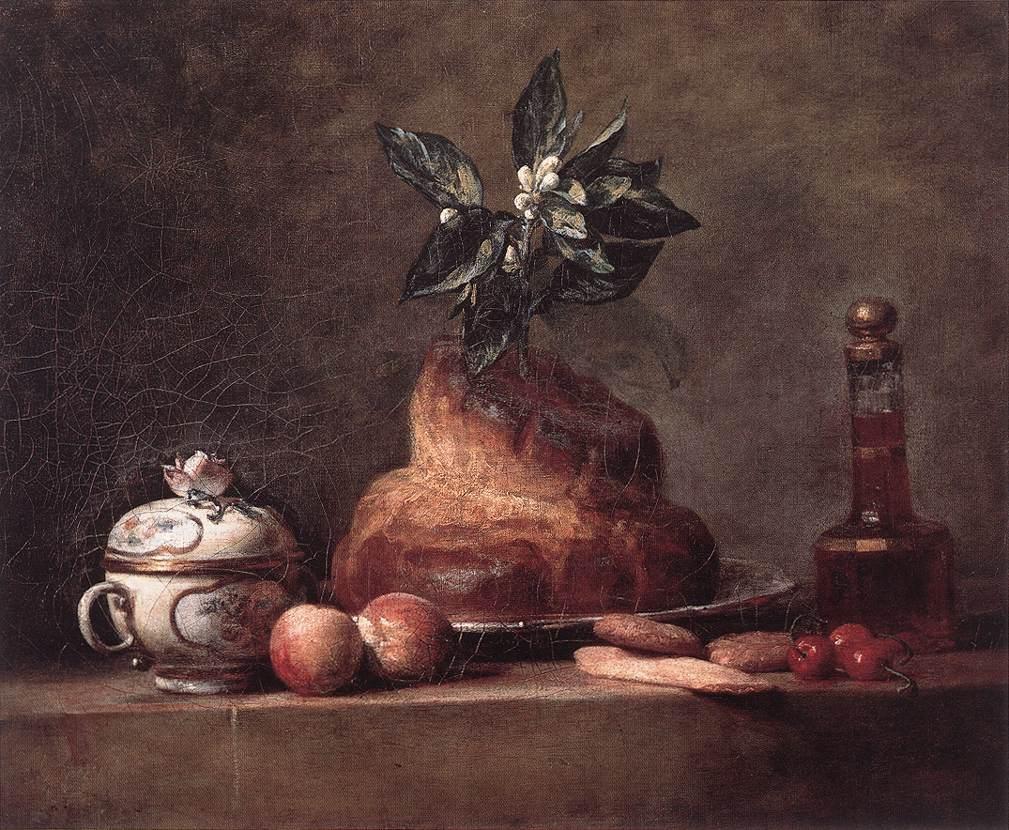 Scones :: Jean-Baptiste-Simeon Chardin - Still-lives with fruit ôîòî