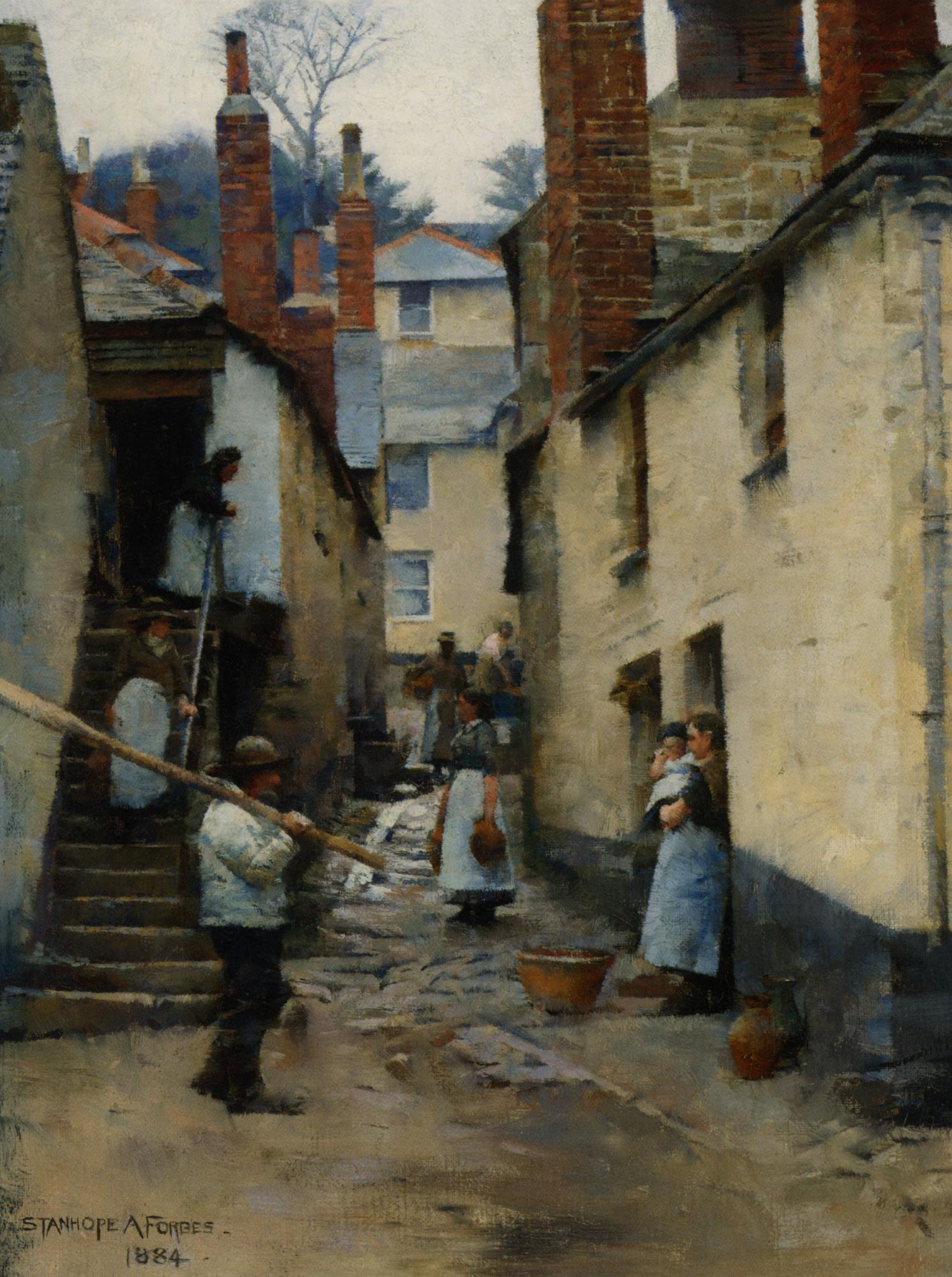 Old Newlyn :: Stanhope Alexander Forbes  - Street and market genre scenes ôîòî