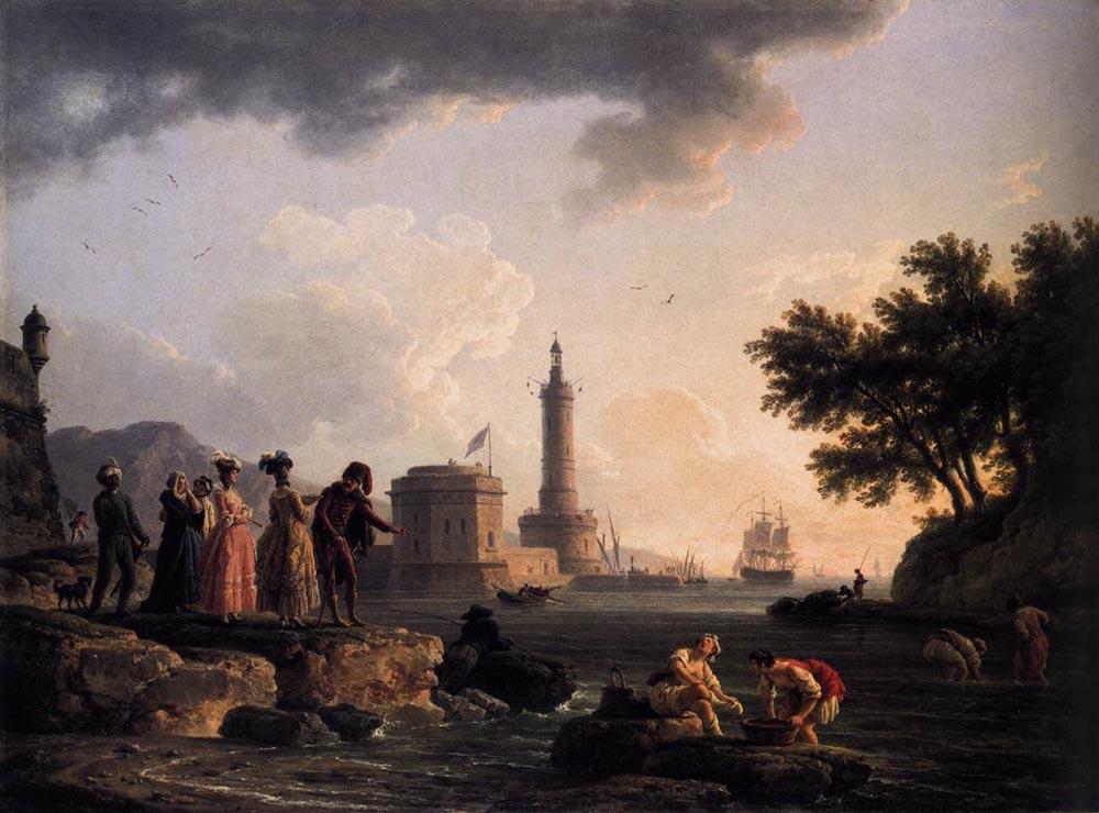 A Seashore :: Claude-Joseph Vernet   - Coastal landscapes ôîòî