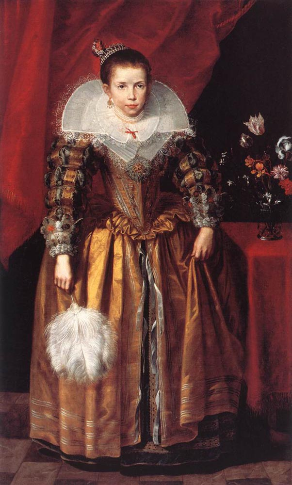 Portrait of a Girl at the Age of 10 :: Cornelis De Vos - Portraits of young girls in art and painting ôîòî