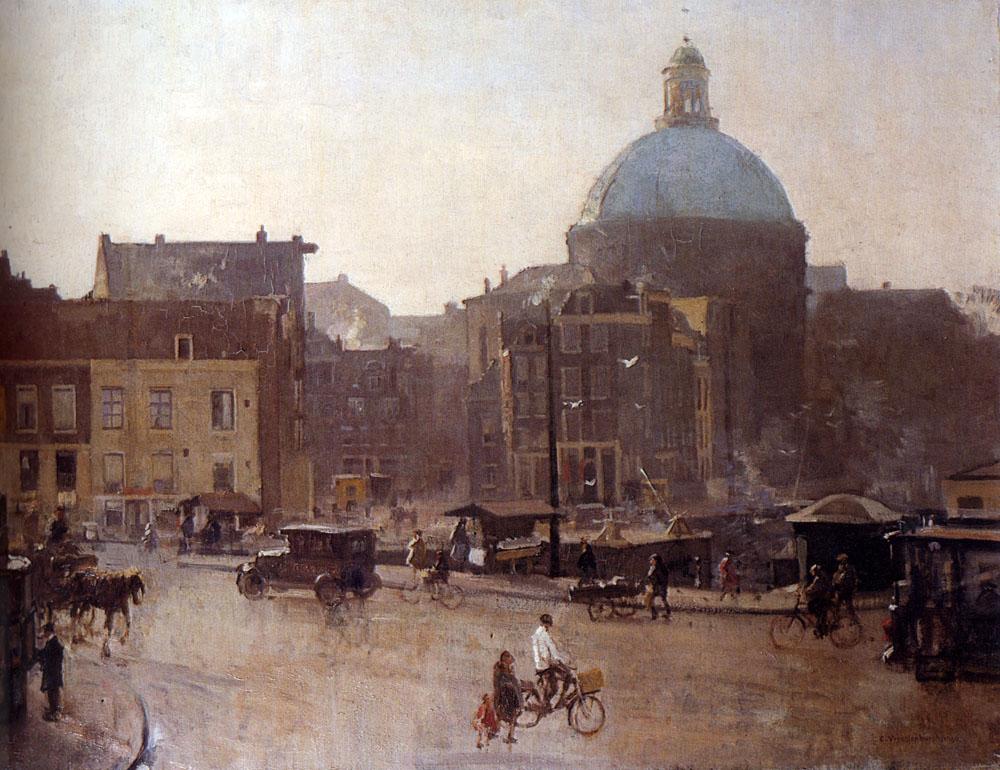 View Of The Singel, Amsterdam, With The Koepelkerk Beyond :: Cornelis Vreedenburgh - Holland and Dutch ôîòî