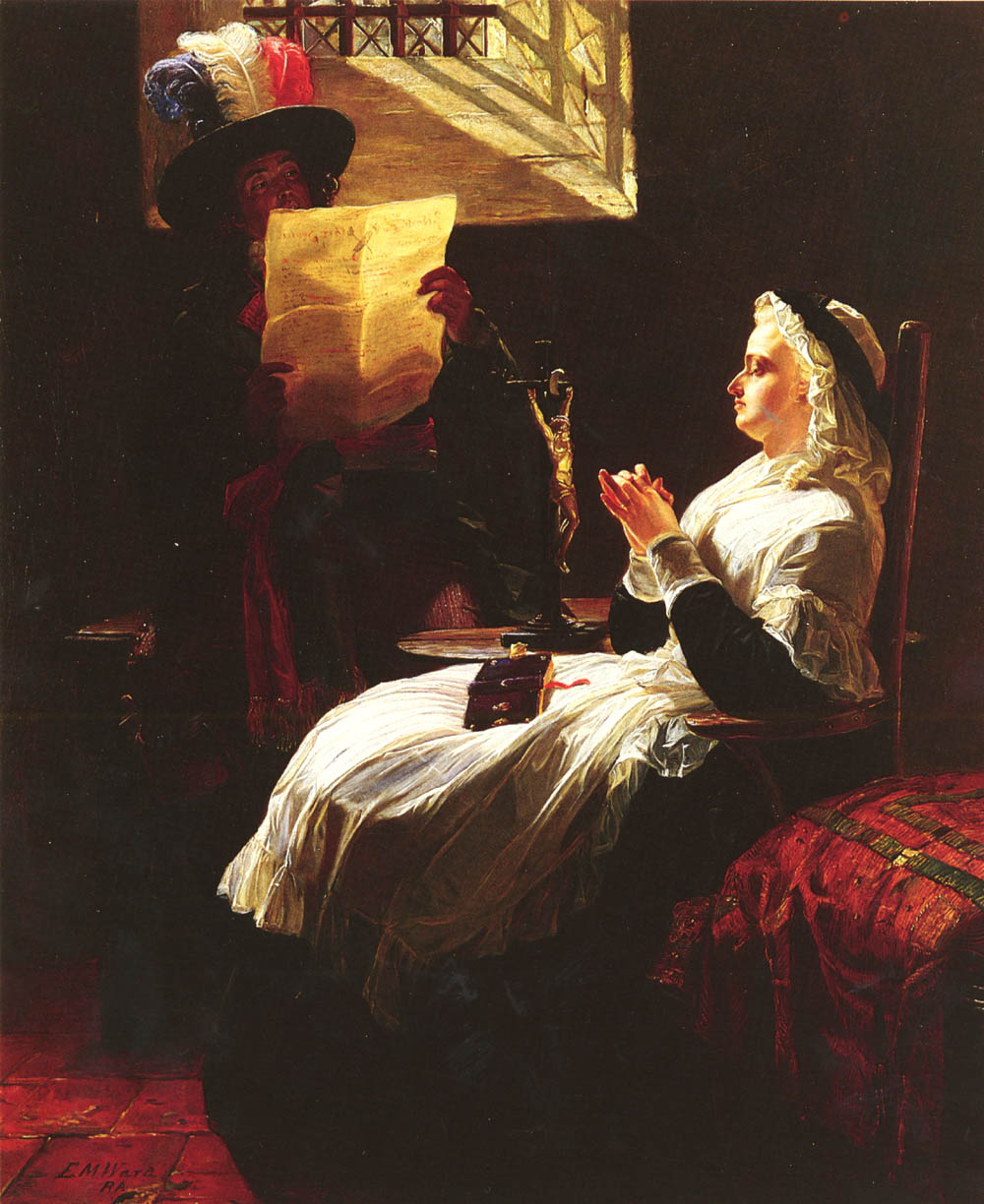 Marie Antoinette Listing To The Act of Accusation, The Day Before Her Trial :: Edward Matthew Ward - History painting ôîòî