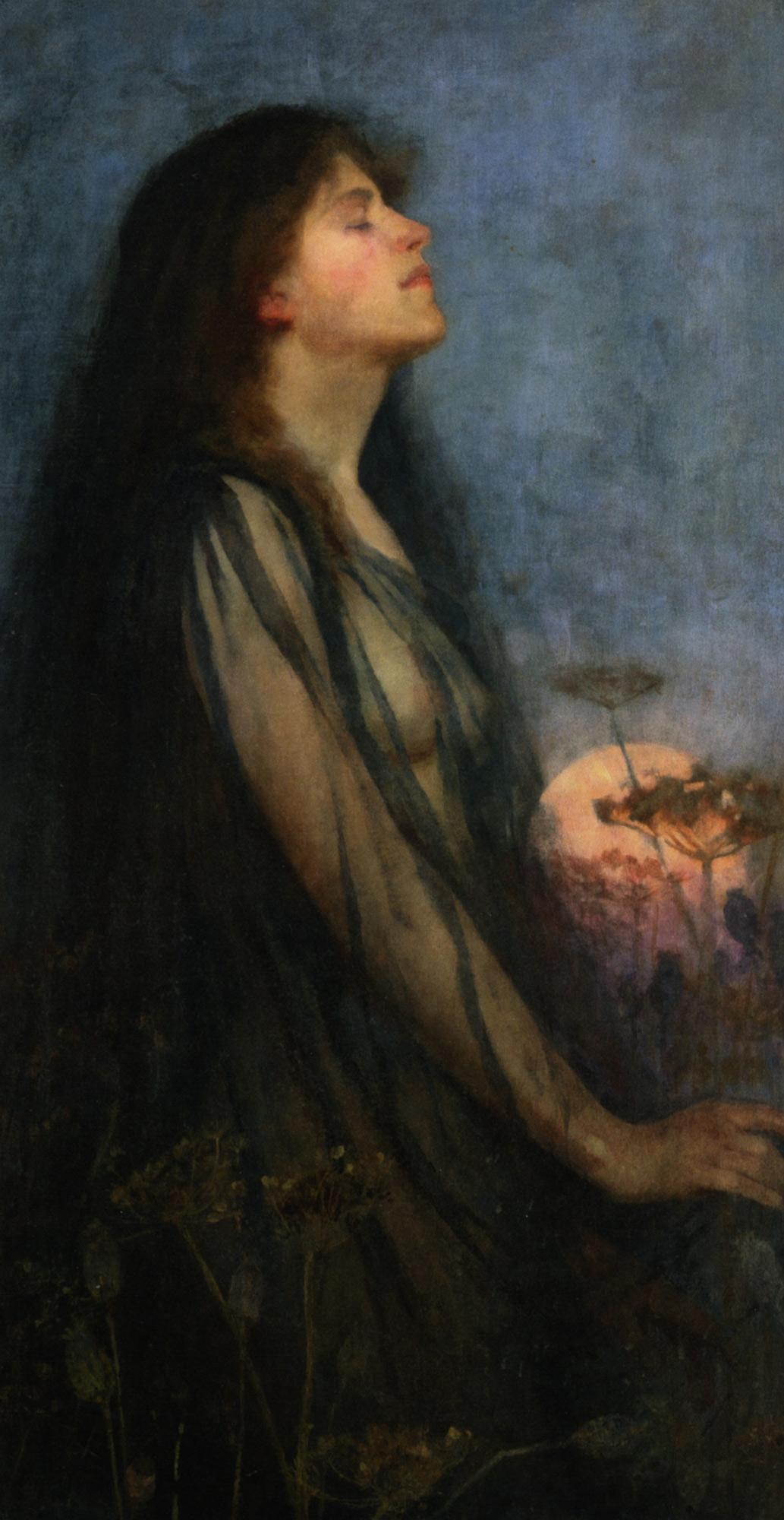 Evening :: Thomas Cooper Gotch  - Young beauties portraits in art and painting ôîòî