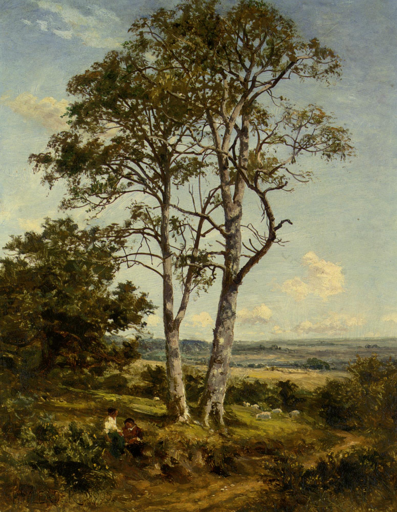 Morning :: Benjamin Williams Leader - Summer landscapes and gardens ôîòî
