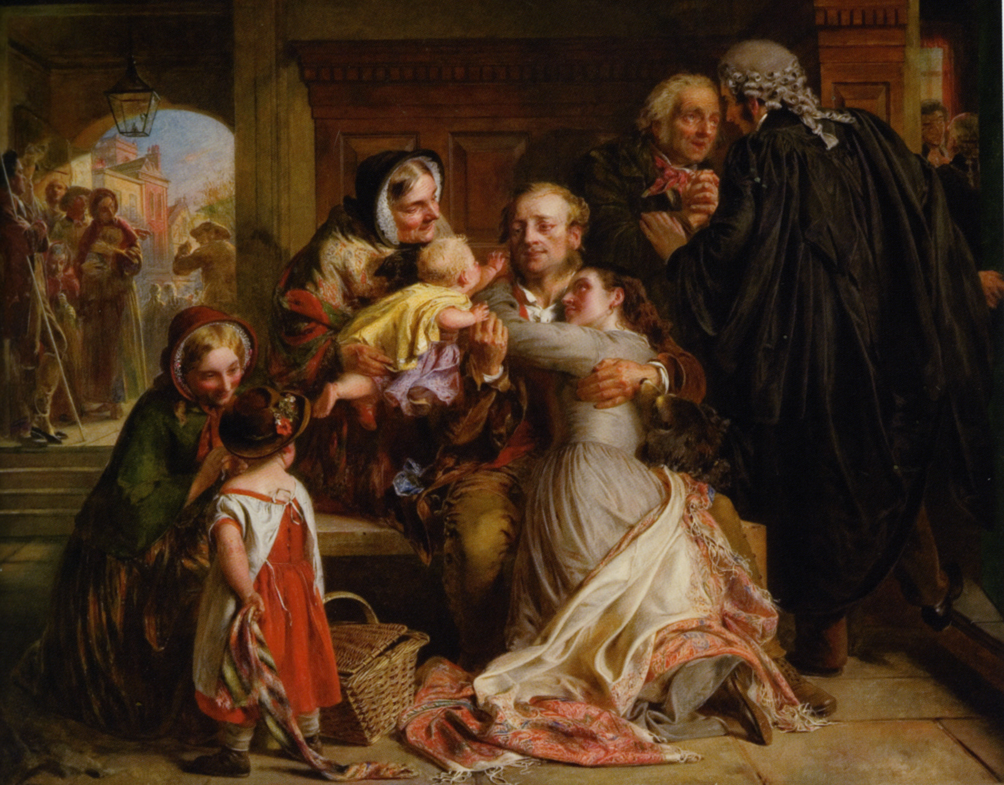 Not Guilty :: Abraham Solomon - Woman and child in painting and art ôîòî
