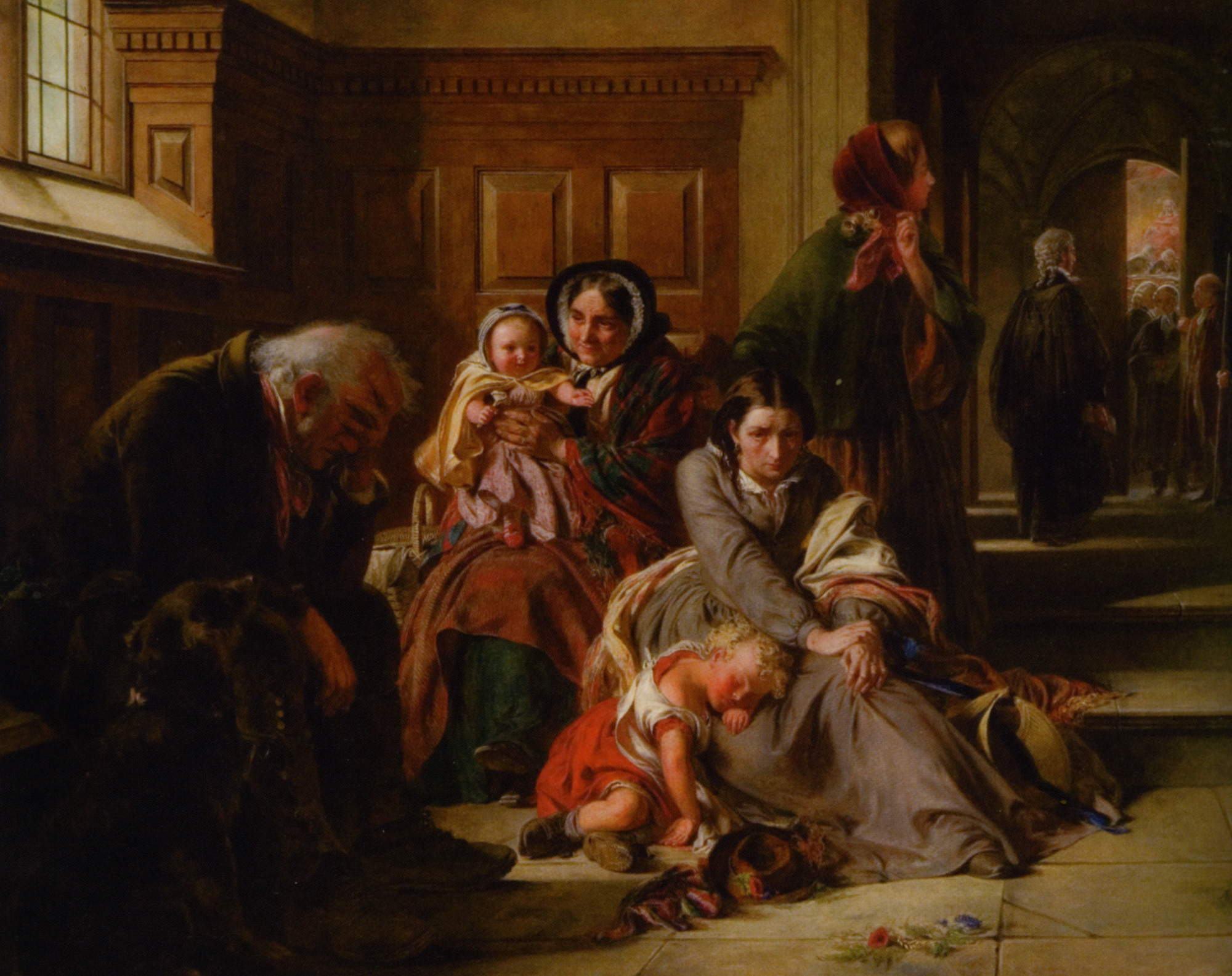 Waiting for the Verdict :: Abraham Solomon - Woman and child in painting and art ôîòî
