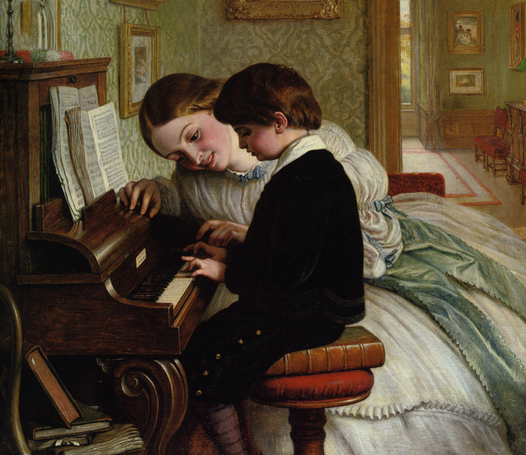 Music Lesson :: Charles West Cope - Portraits of young boys ôîòî