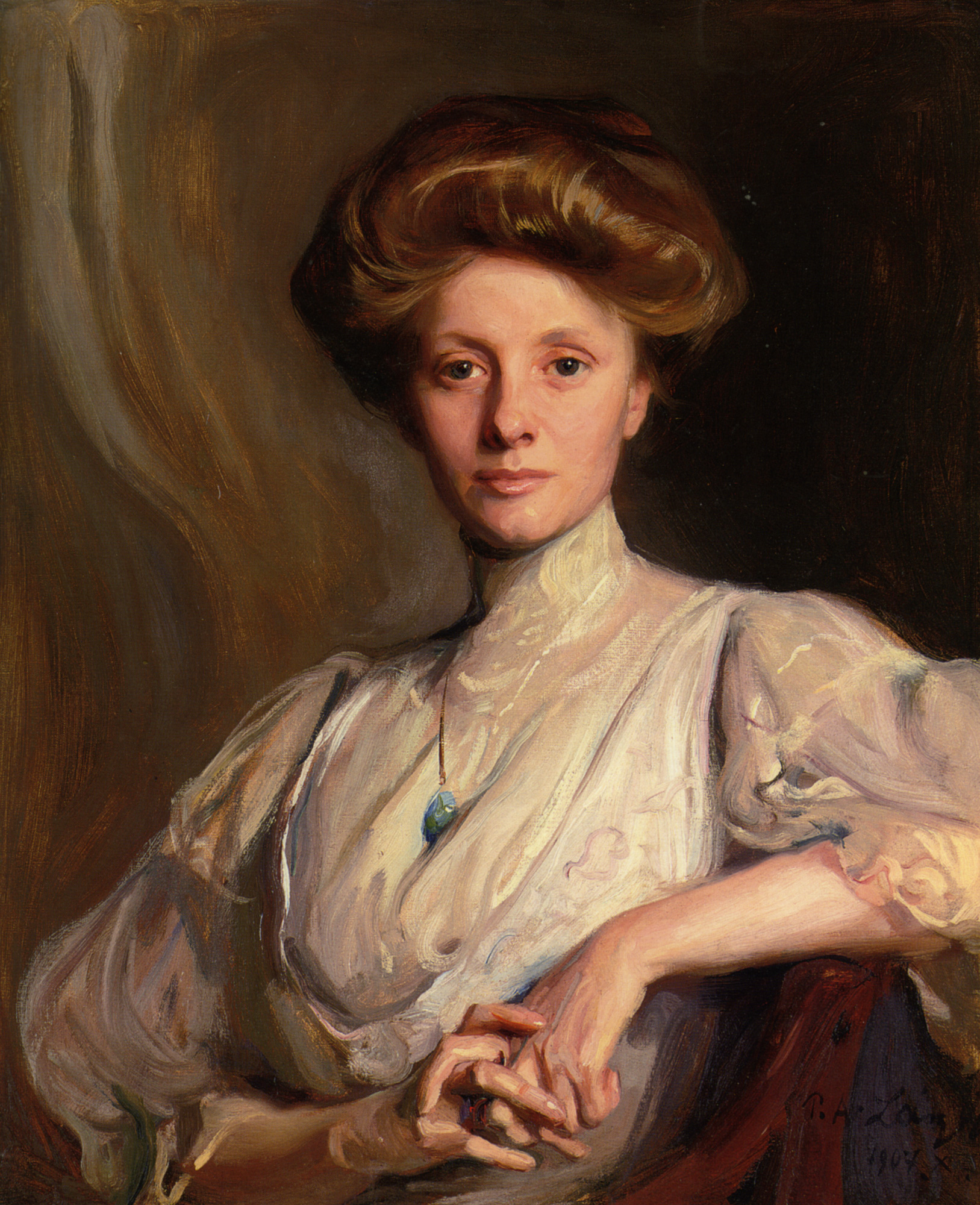 Portrait of Miss Faith Moore Seated :: Philip Alexius de Laszlo - 8 female portraits hall ôîòî