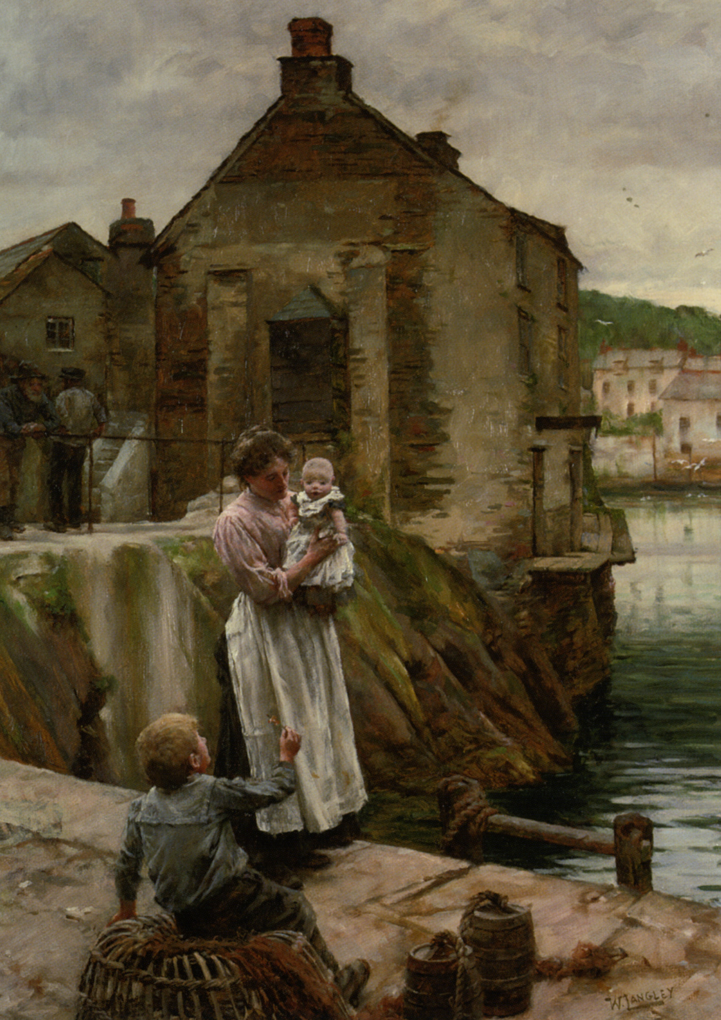 On The Quay Newlyn :: Walter Langley - Woman and child in painting and art ôîòî