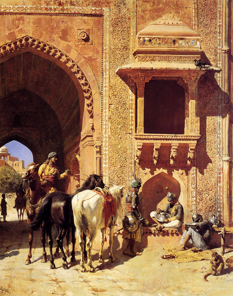 Gate Of The Fortress At Agra, India :: Edwin Lord Weeks - Oriental architecture ôîòî