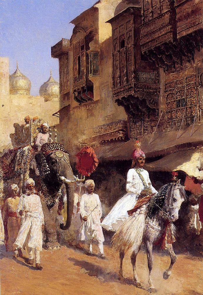 Indian Prince And Parade Cermony :: Edwin Lord Weeks - Street and market genre scenes ôîòî