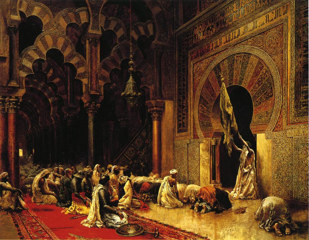 Interior of the Mosque at Cordova :: Edwin Lord Weeks - Rich interiors ôîòî