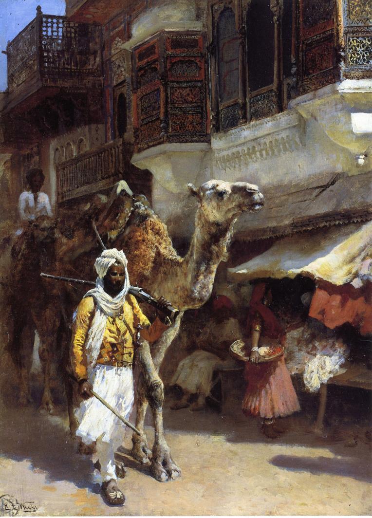 Man Leading a Camel :: Edwin Lord Weeks - Street and market genre scenes ôîòî
