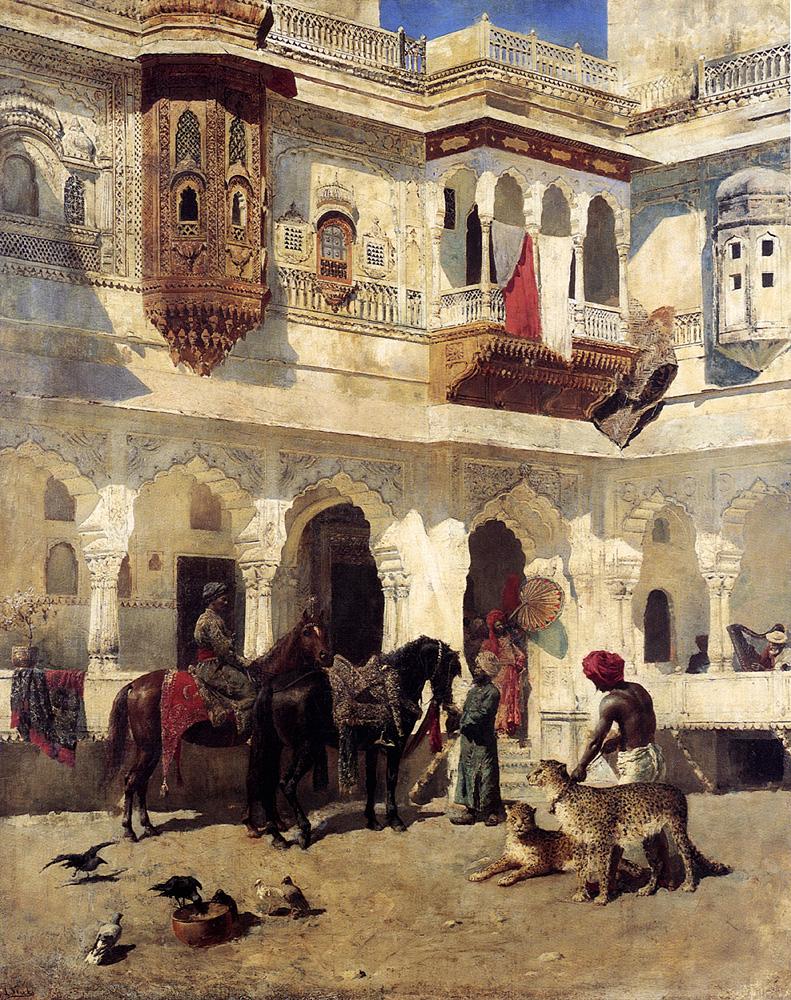 Rajah Starting On A Hunt :: Edwin Lord Weeks - Hunting scenes ôîòî