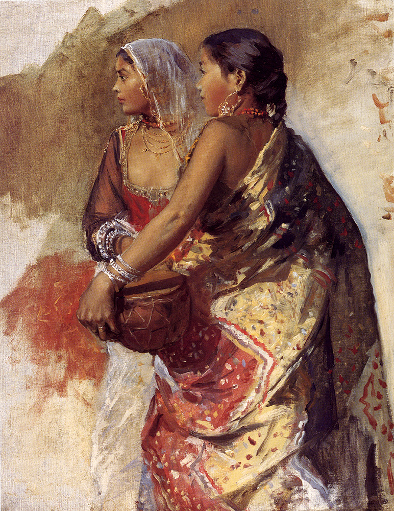 Sketch - Two Nautch Girls :: Edwin Lord Weeks - 7 female portraits ( the end of 19 centuries ) in art and painting ôîòî
