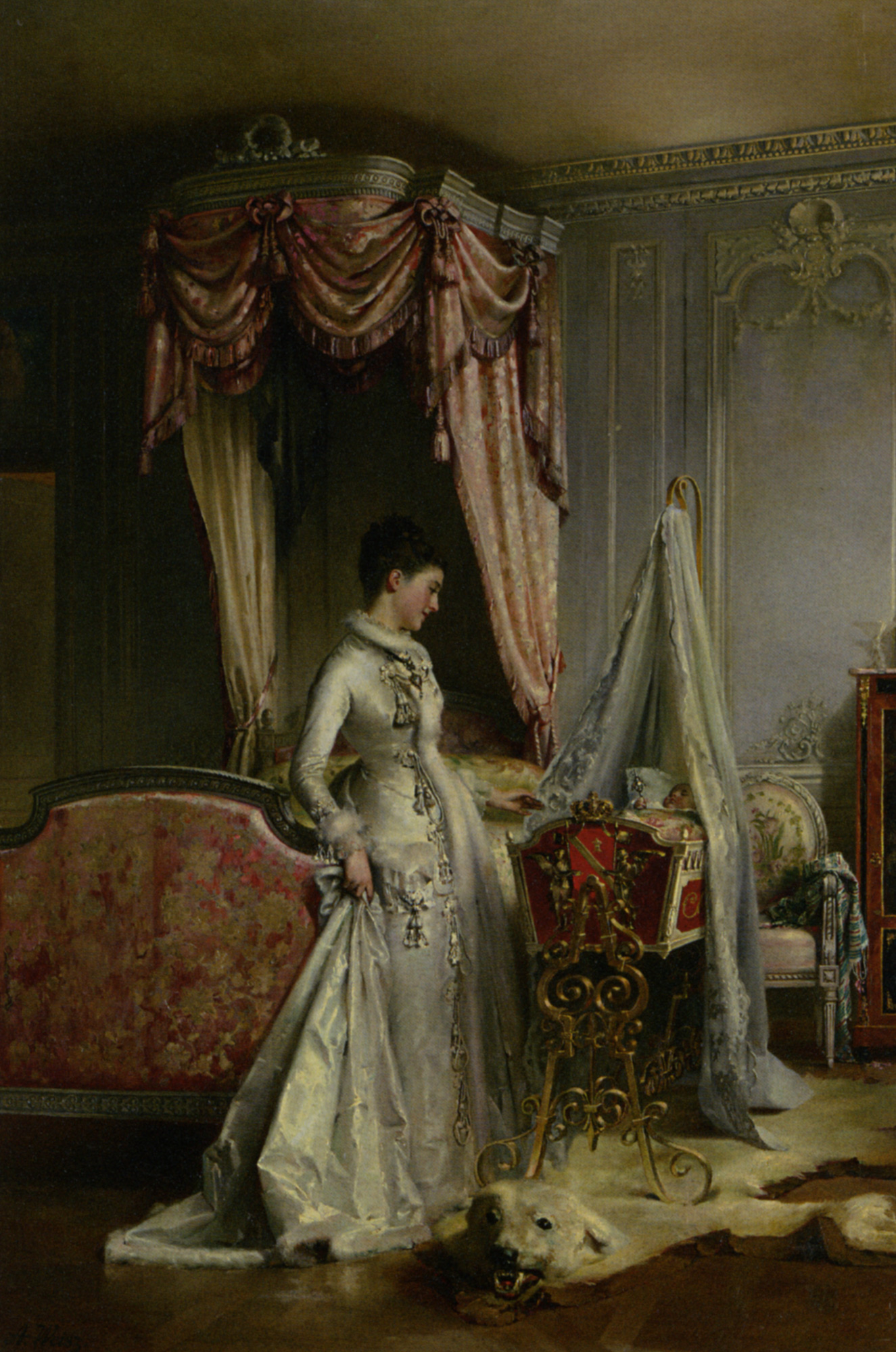 The Heir :: Adolphe Weisz  - Woman and child in painting and art ôîòî