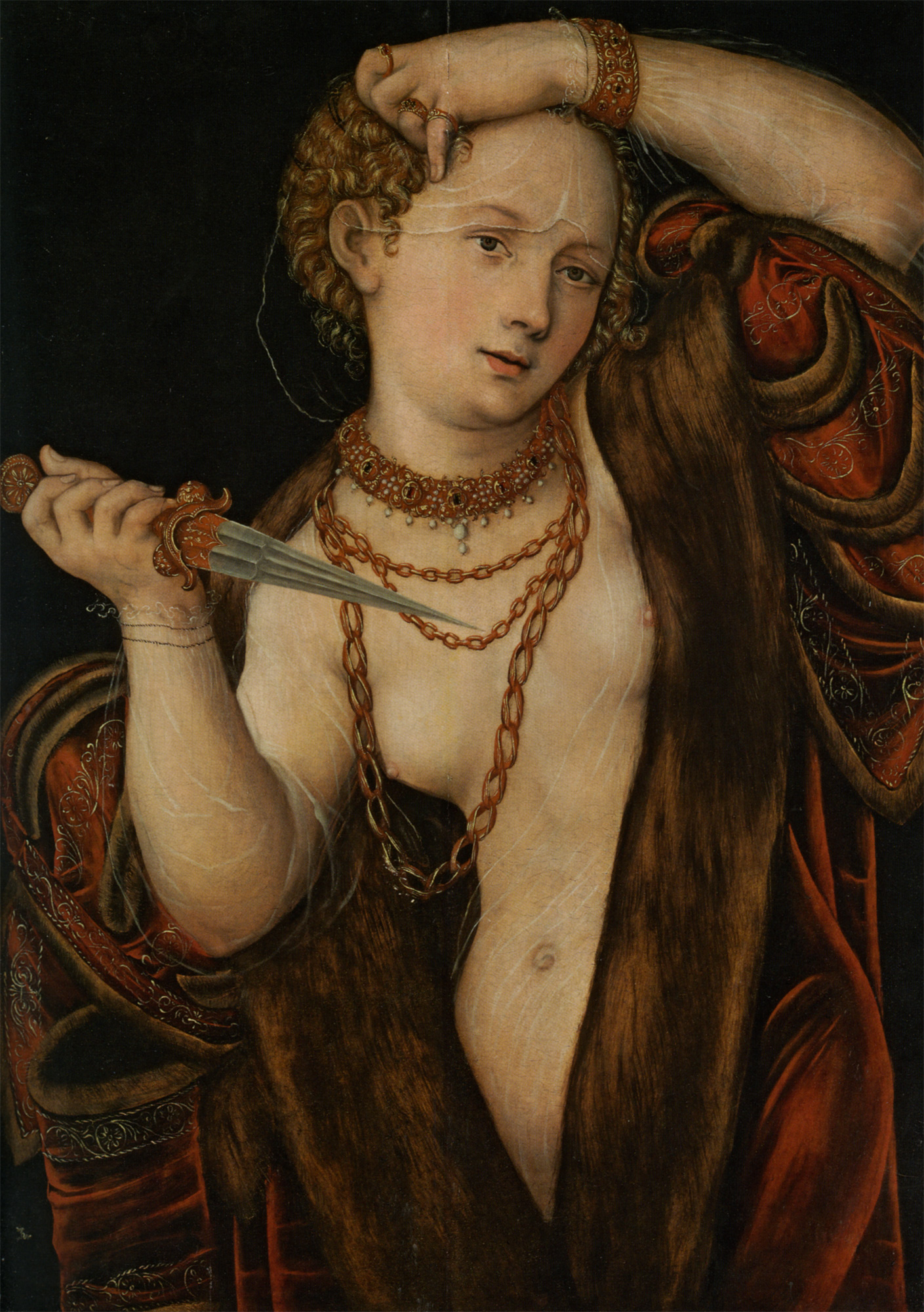 Lucretia :: Lucas Cranach the Younger - 2 women portraits 16th century hall ôîòî
