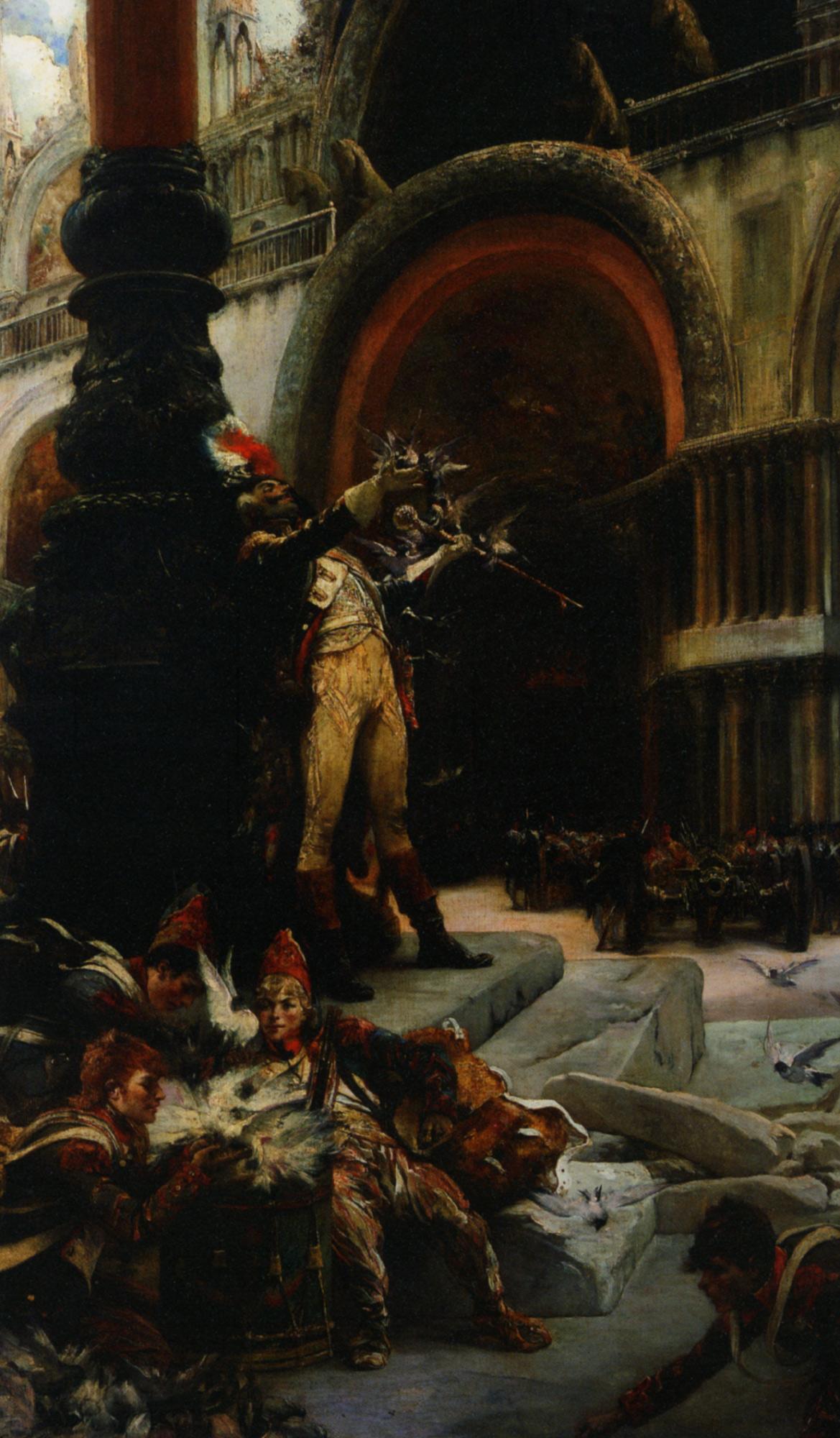 The tamer of pigeons :: Georges Jules Victor Clairin - Street and market genre scenes ôîòî