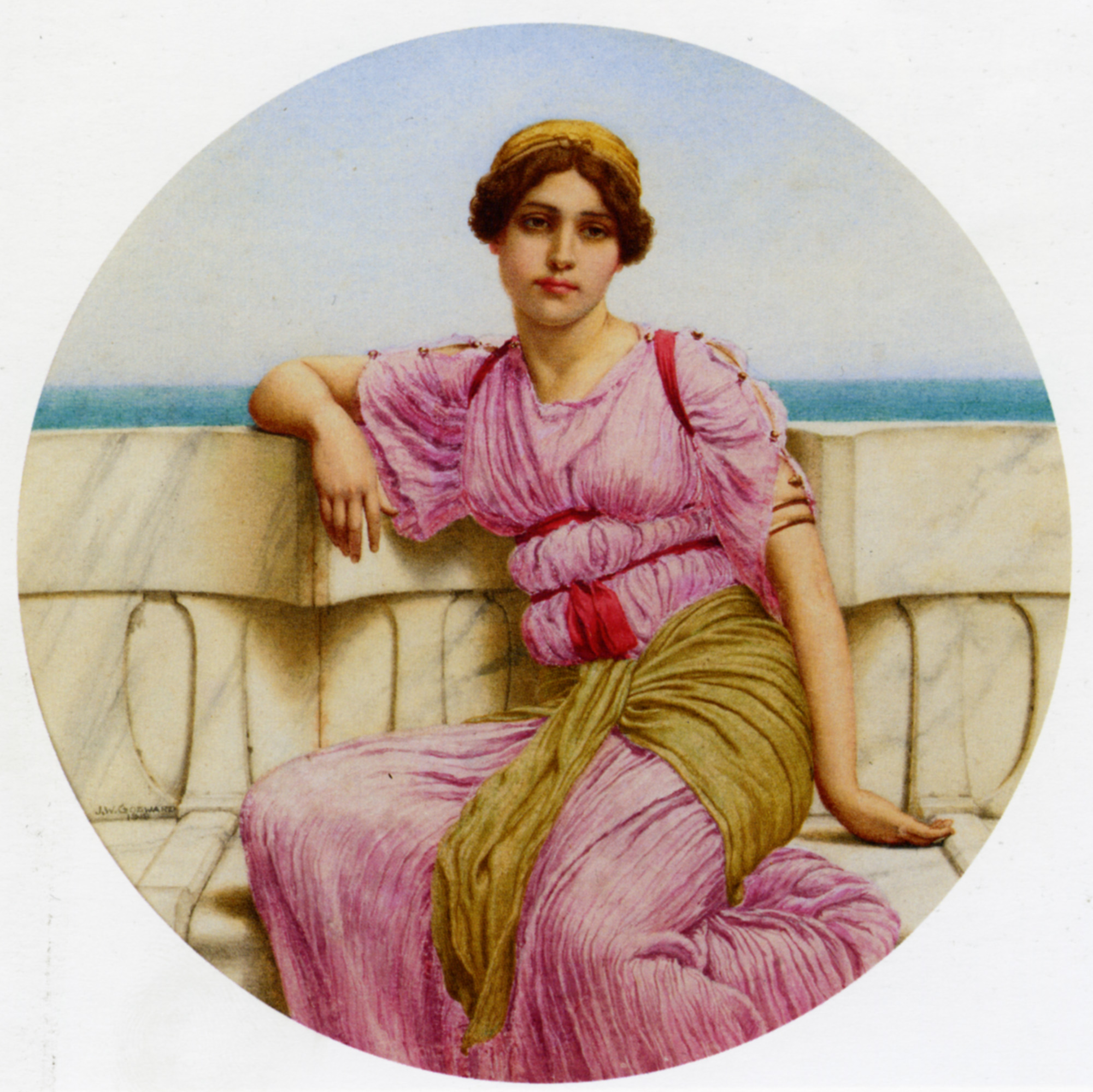 On The Terrace :: John William Godward  - Antique beauties in art and painting ôîòî