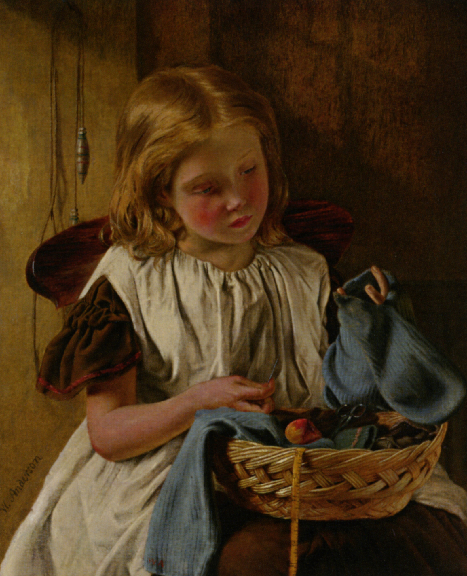 A Stitch In Time :: Walter Anderson - Portraits of young girls in art and painting ôîòî