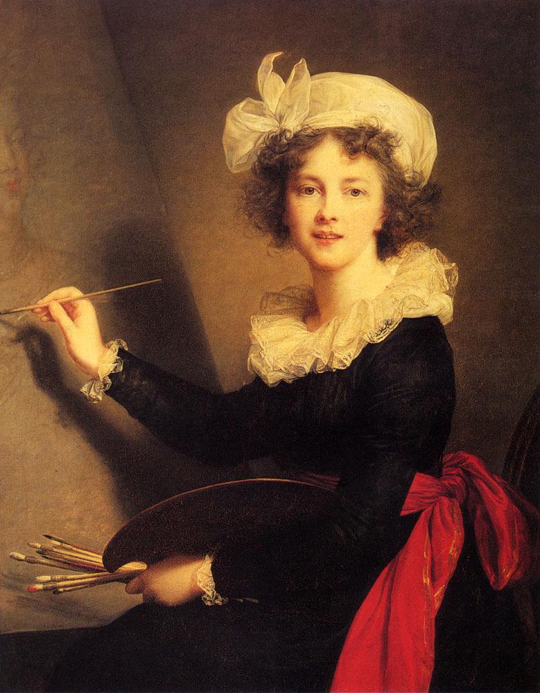 Self Portrait  :: Elisabeth Louise Vigee-Le Brun  - 4 women's portraits 18th century hall ôîòî
