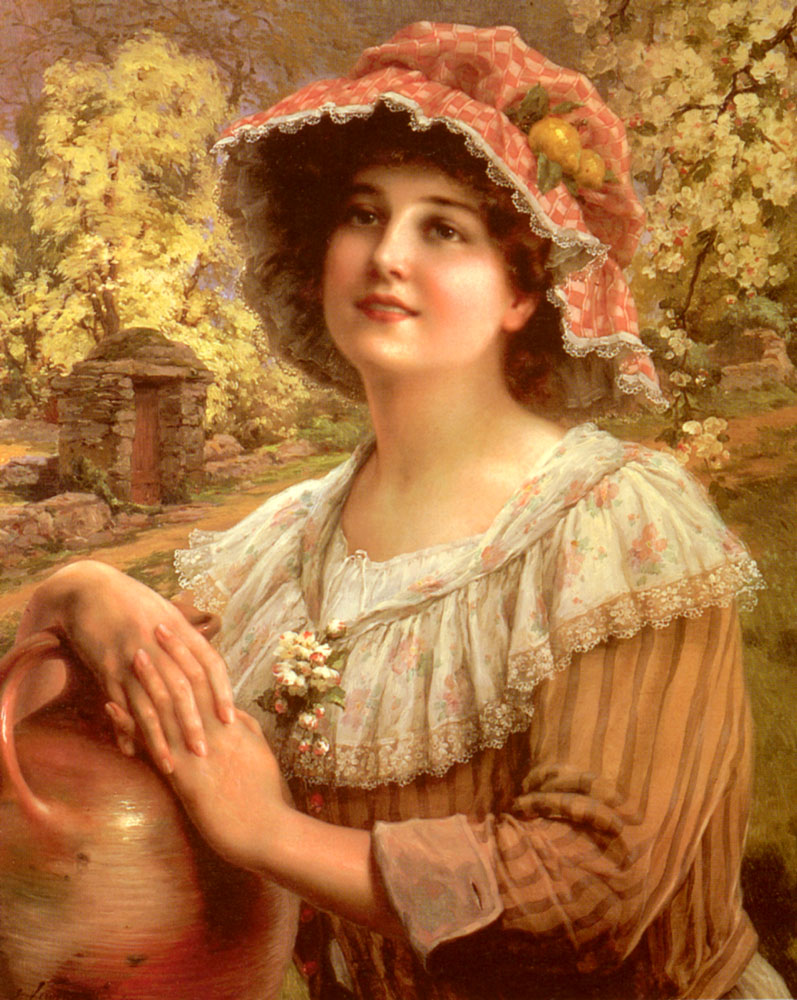 Country Spring :: Emile Vernon - Young beauties portraits in art and painting ôîòî